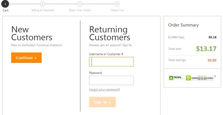 New or Returning customer