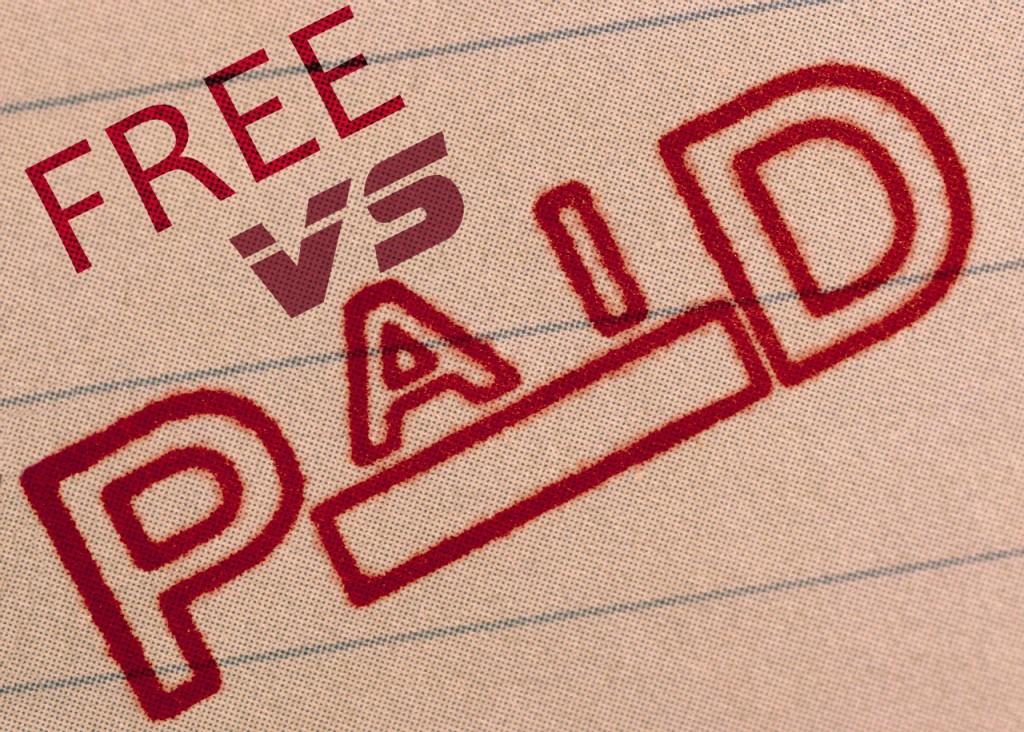 free versus paid